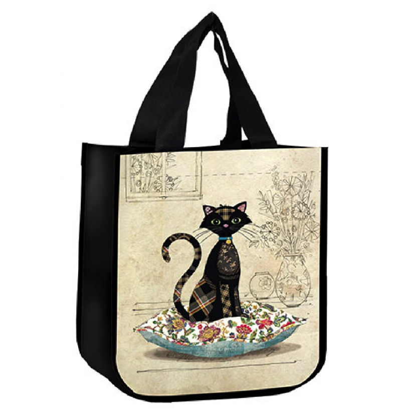 Sac cabas chat coussins